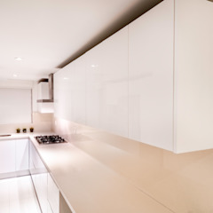 Tropical style kitchen by Art.chitecture, Taller de Arquitectura e Interiorismo 📍 Cancún, México. Tropical