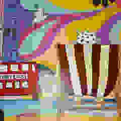 NHS Penderfields Hospital Mural Hospitais eclécticos por Joanna Perry Murals Eclético
