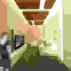 Interior Rumah Pondok Tjandra Ruang Media Modern Oleh SEKALA Studio Modern Kayu Lapis
