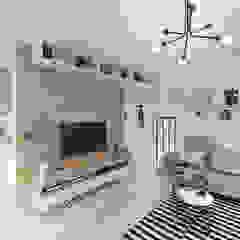 INDUSTRIALNIE Industrialny salon od INVENTIVE studio Industrialny