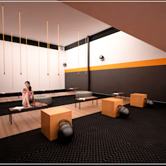 Eclectic style gym by EMERGENTE | Arquitectura Eclectic