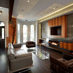 Corcoran House Modern Living Room by KUBE Architecture Modern