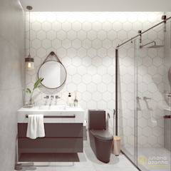 Industrial style bathroom by Juliana Azanha | Arquitetura e Interiores Industrial