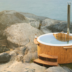 Skargards Panel - The traditional Hot Tub from Sweden من Skargards Hot Tubs UK إسكندينافي