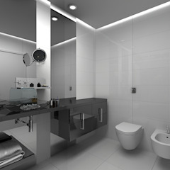 Grupo DH arquitetura BathroomDecoration Grey