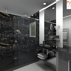 Grupo DH arquitetura BathroomBathtubs & showers Black