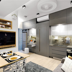 Grand Garden, Sai Wan Ho, Hong Kong Eclectic style kitchen by Darren Design & Associates 戴倫設計工作室 Eclectic