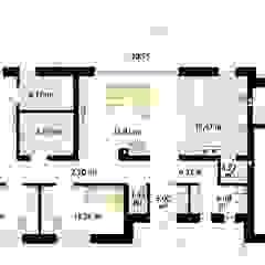 Projekt domu Jemioła 2 Skandynawskie ściany i podłogi od Biuro Projektów MTM Styl - domywstylu.pl Skandynawski