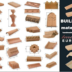 Handcrafted terracotta building materials for renovation and restoration Museus mediterrâneos por Terrecotte Europe Mediterrâneo Pedra