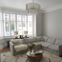 A Chiswick Project with Katherine Brown Modern living room by Plantation Shutters Ltd Modern Wood Wood effect