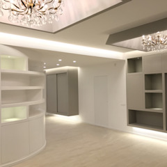 ULA architects Modern living room Ceramic White