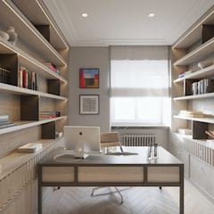 SASKA KĘPA Klasyczne domowe biuro i gabinet od Katarzyna Kraszewska Architektura Wnętrz Klasyczny