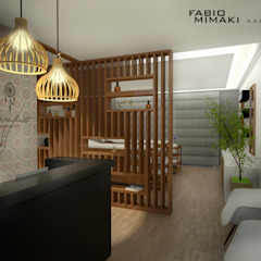 Clinica Estética Spa moderno por Fabio Mimaki Arquitetura Moderno Madeira Acabamento em madeira