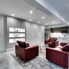 Chesapeake Modern Living Room by KUBE Architecture Modern