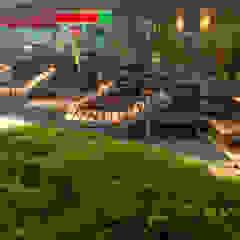 Salones de eventos de estilo ecléctico de INTERIOR BOOKWORM CAFE Ecléctico Madera maciza Multicolor
