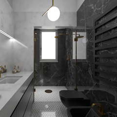 Eclectic style bathroom by ULA architects Eclectic