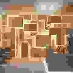 من Camila Pimenta | Arquitetura + Interiores حداثي خشب Wood effect