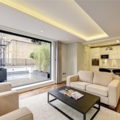 St James' central London Suzanne Tucker Interiors Modern Living Room White