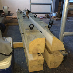 WE-Maatdesign Dining roomLighting Wood Wood effect