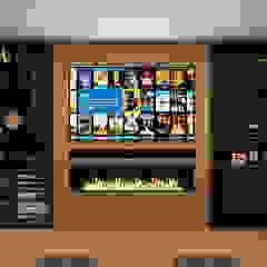Kensington Basement Home Cinema من Custom Controls كلاسيكي