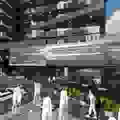 Edificio multifamiliar. Arquitectura Bioclimatica de Vida Arquitectura Moderno Azulejos
