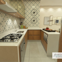 Tropical style kitchen by Arquiteta Jéssica Hoegenn - Arquitetura de Interiores Tropical