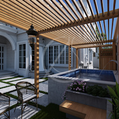 Classic Saudi Arabian Villa Exterior Design by Comelite Architecture, Structure and Interior Design Eclectic پتھر