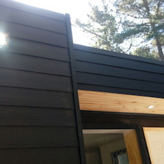de Incove - Casas de madera minimalistas Mediterráneo