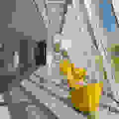 Industrialny ogród zimowy od Studio Associato Sezione d'Architettura Industrialny Aluminium/Cynk