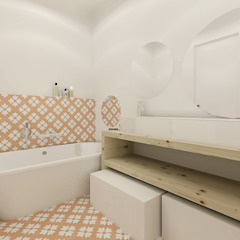 Baños de estilo escandinavo de Homestories Escandinavo