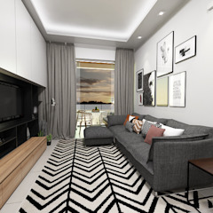 Casa S + V Salas multimédia modernas por SÓDESIGN Moderno