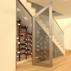 Minimalist wine cellar by Volo Vinis Minimalist Iron/Steel