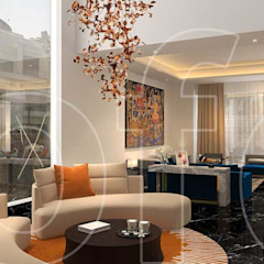 VA Residence Language of Design Modern living room