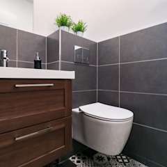 Anne Lapointe Chila Modern Bathroom Sandstone Black
