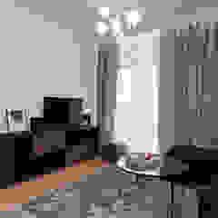 Służbowy apartament w Jarosławiu Śródziemnomorski salon od Viva Design - projektowanie wnętrz Śródziemnomorski Żelazo/Stal