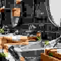 Barbero Baixa Espaços comerciais industriais por Tó Liss Industrial Azulejo