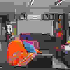 Rumah Beranda - Green Boarding House Ruang Keluarga Gaya Industrial Oleh sigit.kusumawijaya | architect & urbandesigner Industrial Kayu Wood effect
