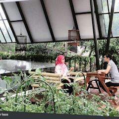 Rumah Kebun Mandiri Pangan (Food Self-Sufficiency House) Oleh sigit.kusumawijaya | architect & urbandesigner Minimalis Kayu Wood effect