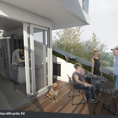 Split & Slope (Edible) Garden House Ruang Keluarga Gaya Industrial Oleh sigit.kusumawijaya | architect & urbandesigner Industrial