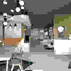 Boutique de luminaires à Hoenheim Espaces commerciaux modernes par Studio Fan Déco Moderne
