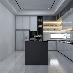 Bungalow Design -Yong Peng Johor Bahru,Malaysia Modern style kitchen by Enrich Artlife & Interior Design Sdn Bhd Modern