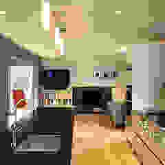 Cocinas de estilo moderno de KUBE Architecture Moderno