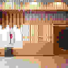 interior cluster aeroworld 8 citra, cengkareng jakarta barat Ruang Keluarga Gaya Asia Oleh Livint design Asia Kayu Lapis