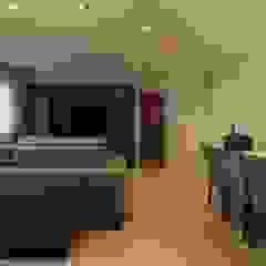 Apartamento 05 Salas multimídia ecléticas por PB Arquitetura Eclético