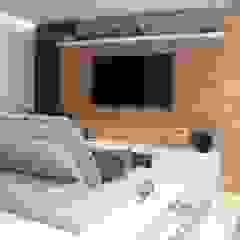 Apartamento 06 Salas multimídia ecléticas por PB Arquitetura Eclético