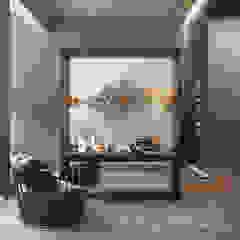 Studio 25 Eclectic style bedroom Grey