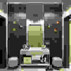 Studio 25 Eclectic style corridor, hallway & stairs Brown