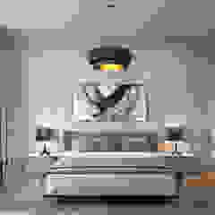 Studio 25 Eclectic style bedroom Beige