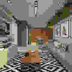 O estar/jantar e área privativa dos sonhos! Salas de jantar escandinavas por Bianca Goulart Design Escandinavo