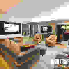 Projeto decoração de interiores - Parque das Nações Salas de estar modernas por OBRA ATELIER - Arquitetura & Interiores Moderno